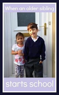 Some tips for when an older sibling starts school
