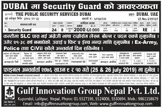Jobs in Dubai for Nepali, Salary Rs 60,000