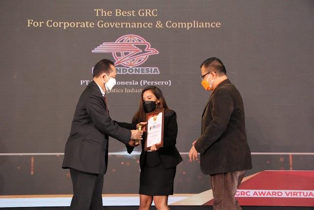 Pos Indonesia Raih 3 Penghargaan Dalam Ajang GRC Award 2021