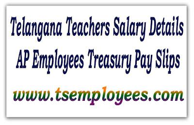 Telangana Teachers Salary Details Treasury Pay Slips TS – Employees Salary Slip