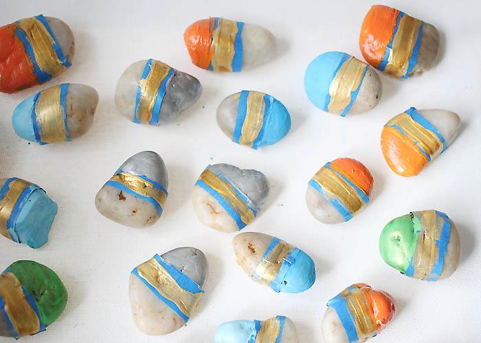 DIY Painted Vase Filler Stones