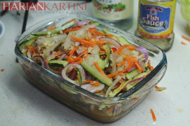 Resep Acar ceker Ayam Asem,Pedas , Asin ala Thailand Yang Bikin Nagih