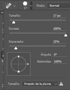 Configurar las propiedades de la Herramienta Pincel Corrector Puntual en Photoshop