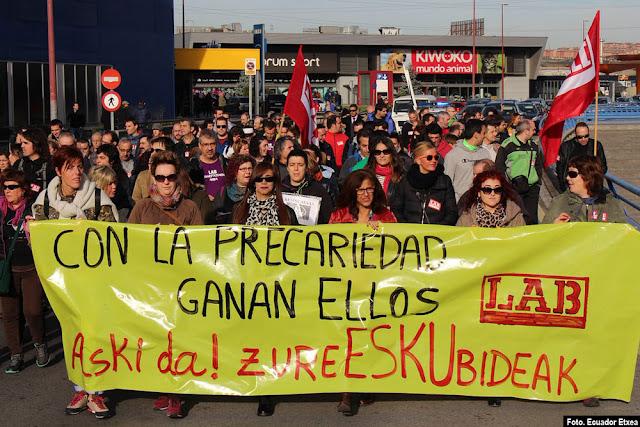 Manifestación de LAB en Megepark