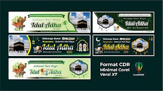 5 Free Desain Benner Spanduk Idul Adha 1442 Hijriah