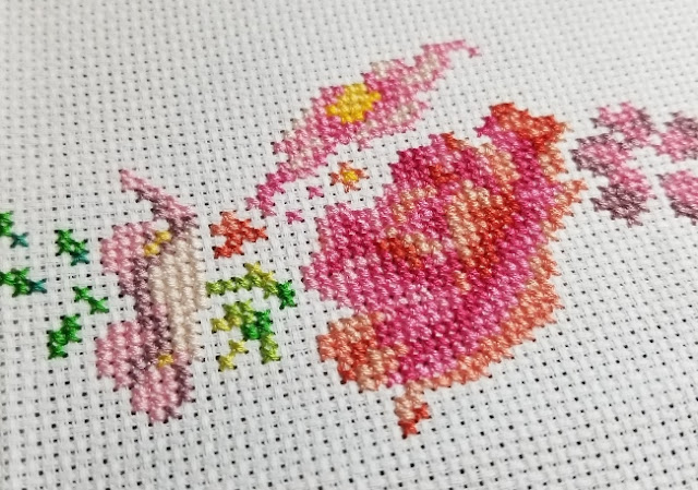 Floral Cross Stitch WIP