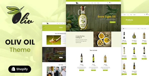 Best Olive Oil and Food Shop Shopify Theme