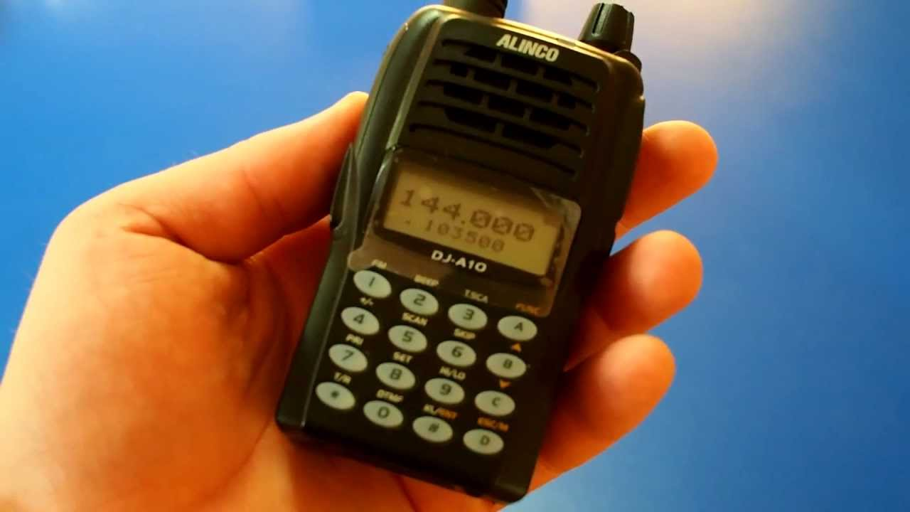 Alinco dj-a10s tough, rugged mil spec vhf handheld nevada radio.