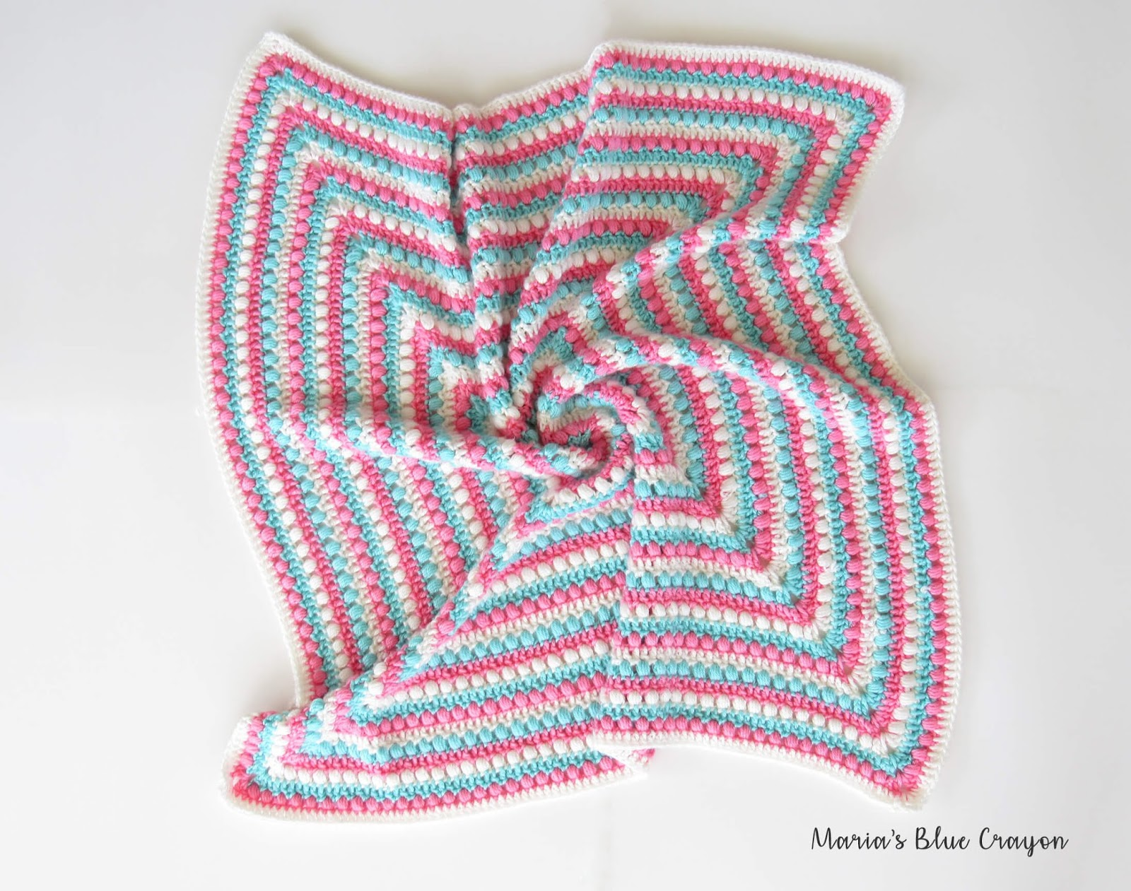 Bobbles And Stripes Granny Square Blanket Free Easy Crochet