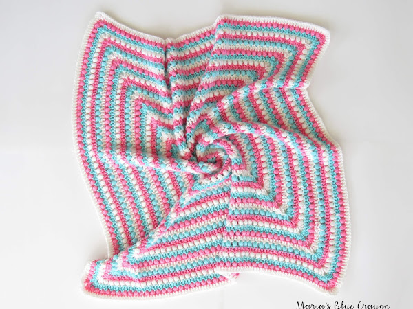 Bobbles and Stripes Granny Square Blanket - Free, Easy Crochet Pattern