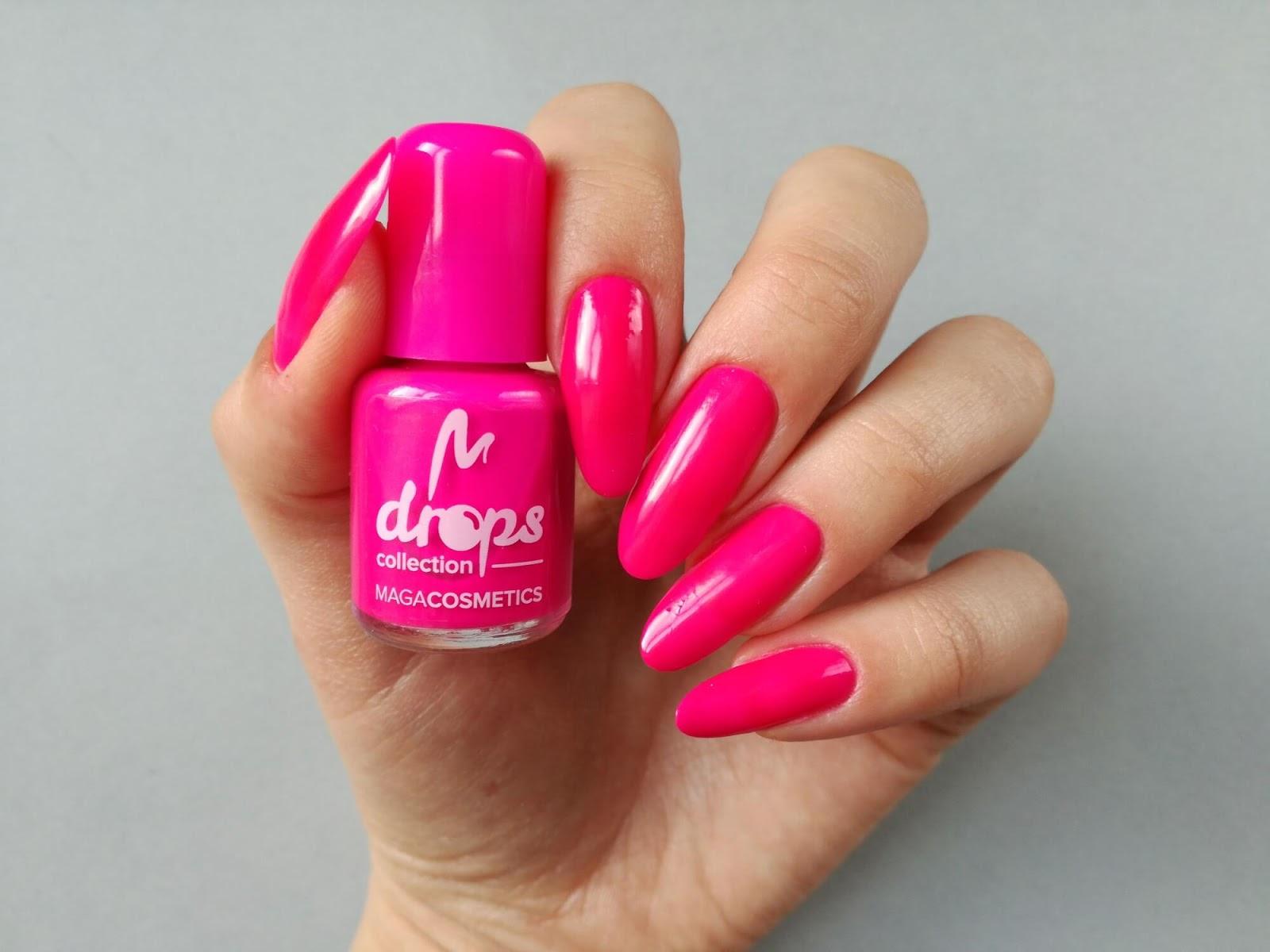 paznokcie neonowe - różowe