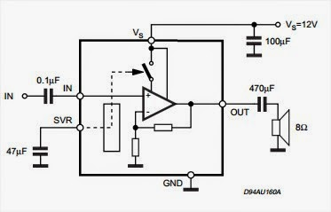 2W MONO AMPLIFIER ~ Circuit Wiring Diagram Must Know