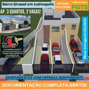 Apartamentos,3 Quartos, 2 vagas, entradas independentes , Girassol, Ribeirão das Neves, MG