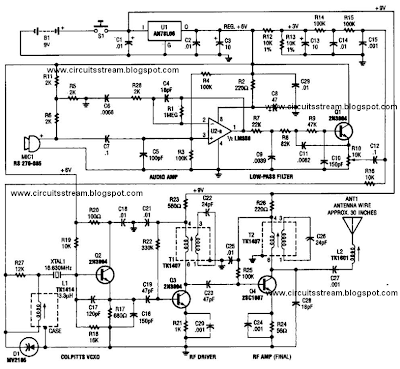 Best Tracking Transmitter Circuit Diagram