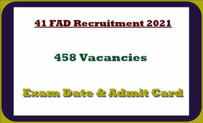 41 FAD Exam Date, Call Letter Out