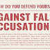 How Do You Defend Yourself Against False Accusations? #infographic