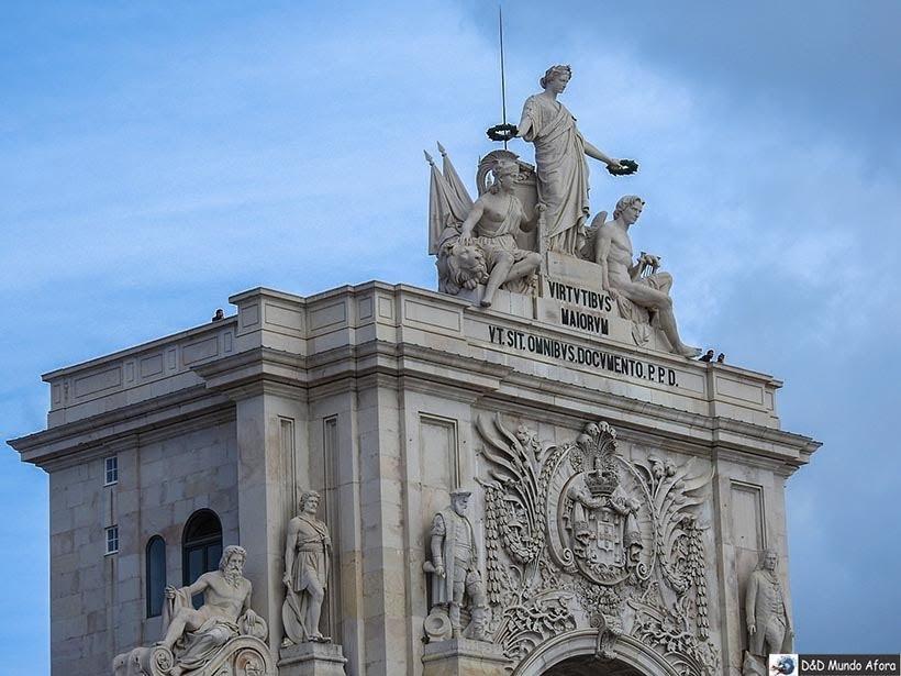 Detalhe do Arco da Rua Augusta - O que fazer em Lisboa, Portugal