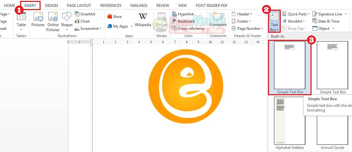 Cara menyisipkan text box di word