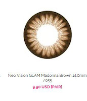 http://www.queencontacts.com/product/Neo-Vision-GLAM-Madonna-Brown-14.0mm-055/2702