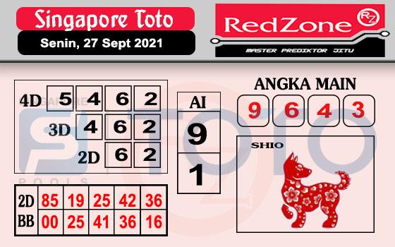 Redzone Sgp Senin 27 September 2021