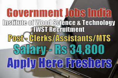 Wood Science IWST Recruitment 2020