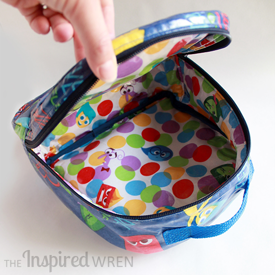 "Love the lining on this Lunch Box/Bag sewn in Laminated ""Inside Out"" Cotton 