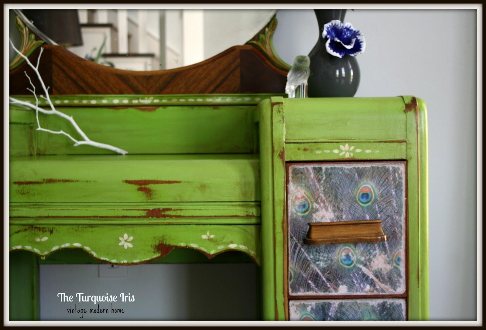 The Turquoise Iris Furniture Amp Art Apple Green Antique