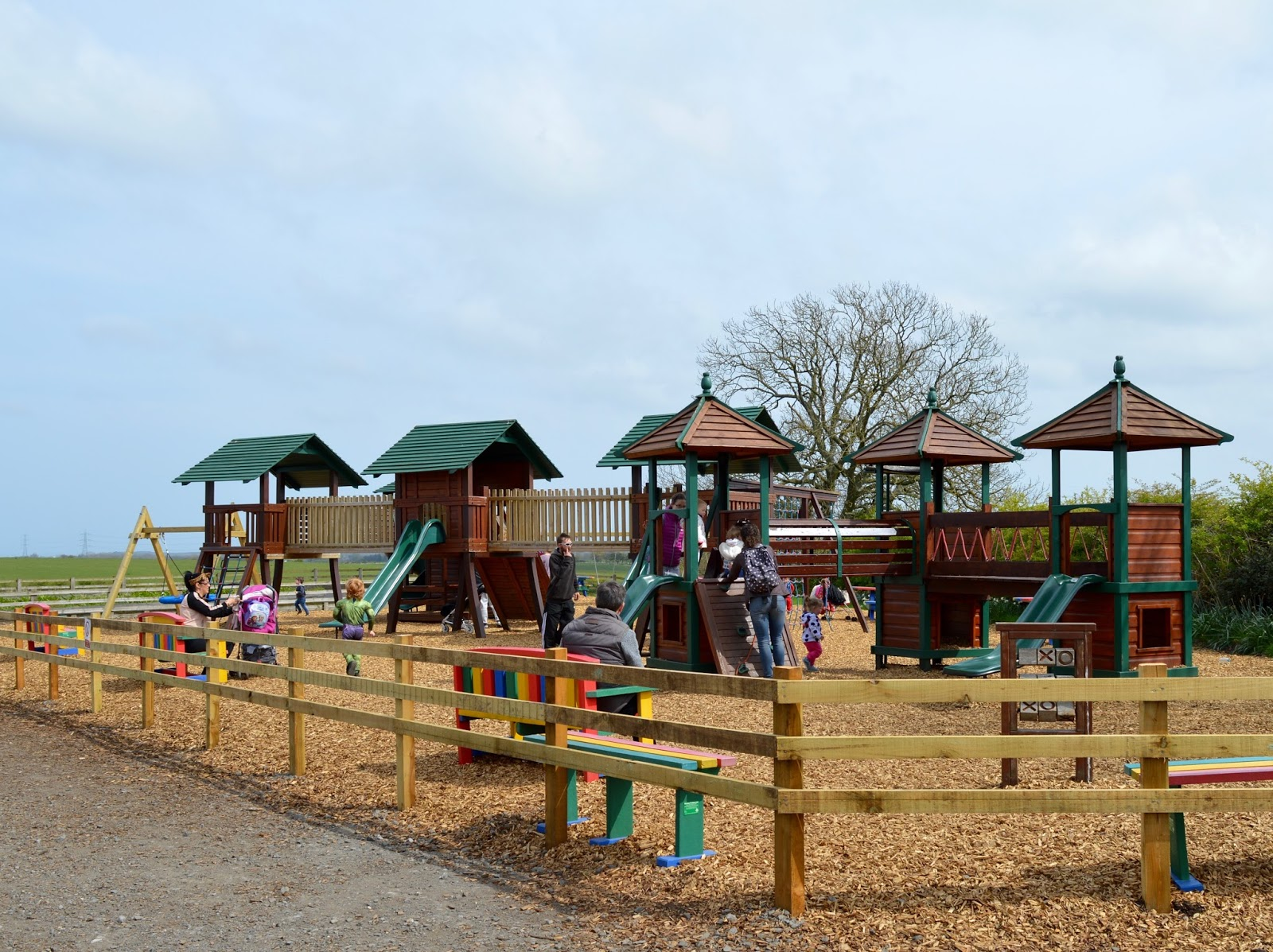 Birthday Parties at Whitehouse Farm in Northumberland | What to expect & review - outdoor play park