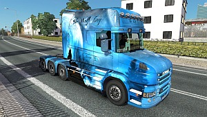 The Wolf Cry Scania T skin + trailer