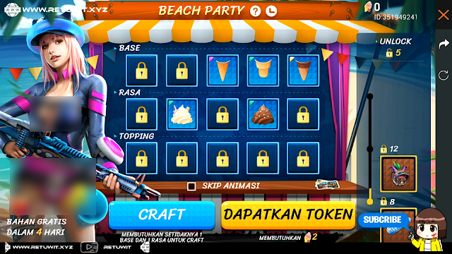 Cara Bermain Event Ice Cream Fortune Beach Party Free Fire