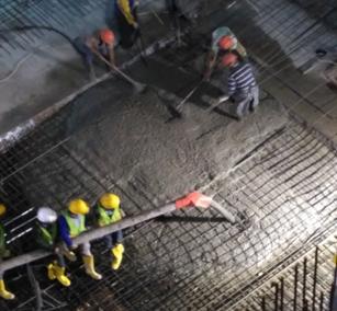 Pengecoran Menggunakan Concrete Pump