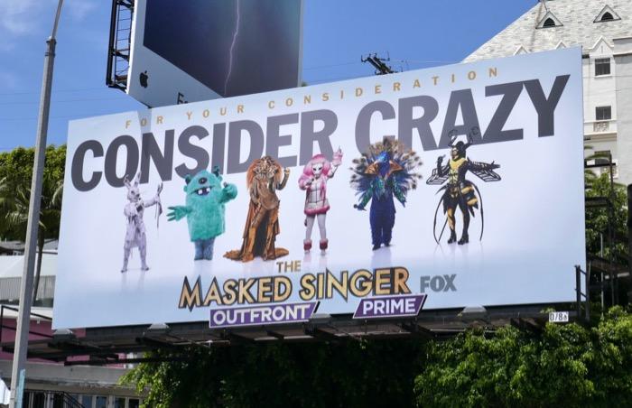 Masked Singer season 1 Emmy billboard