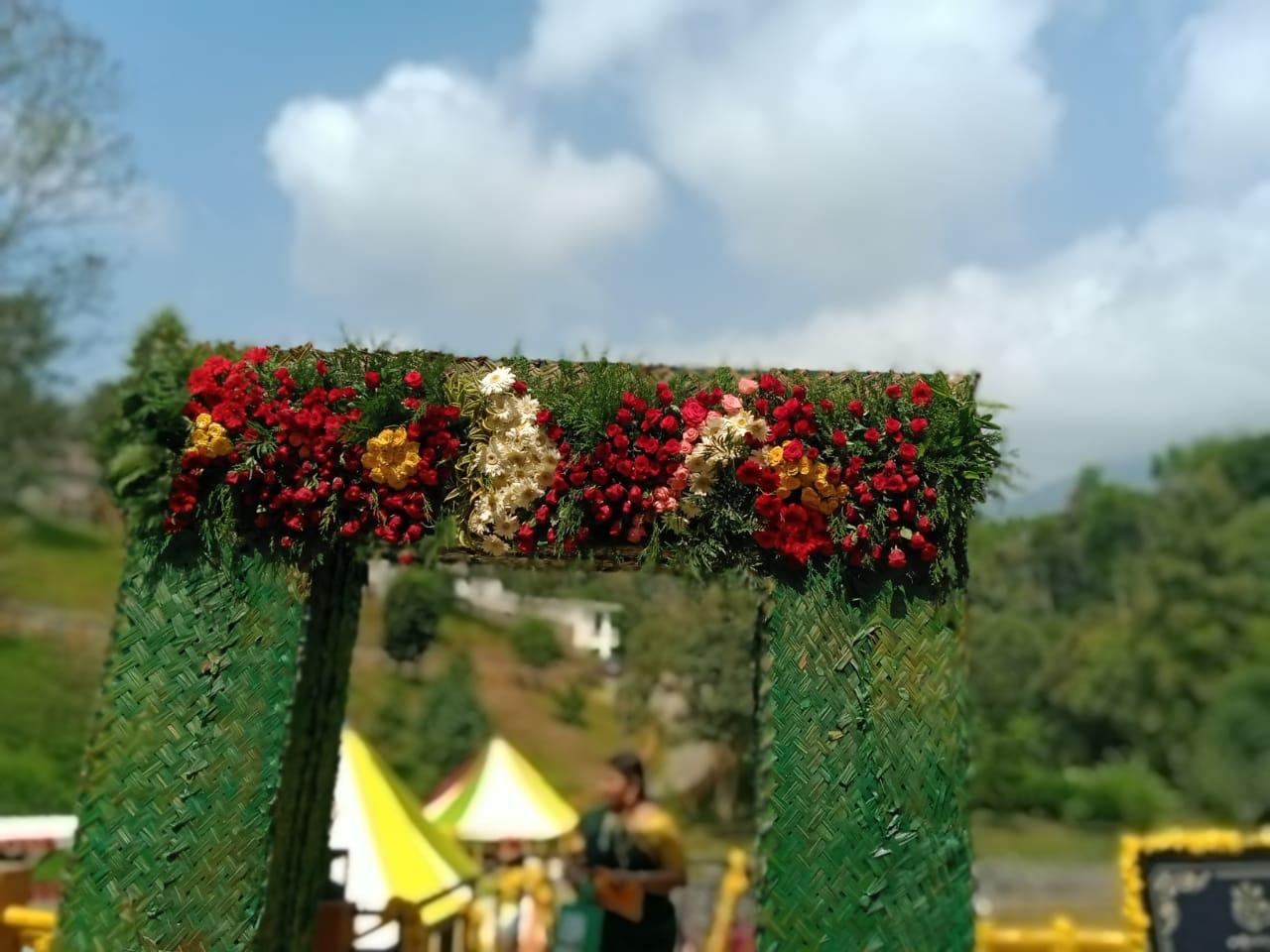 Green Entrance Decoration Work Kerala