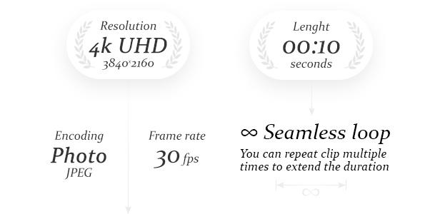 4k UHD 3840x2160 | 10 seconds | seamless loop | 30fps