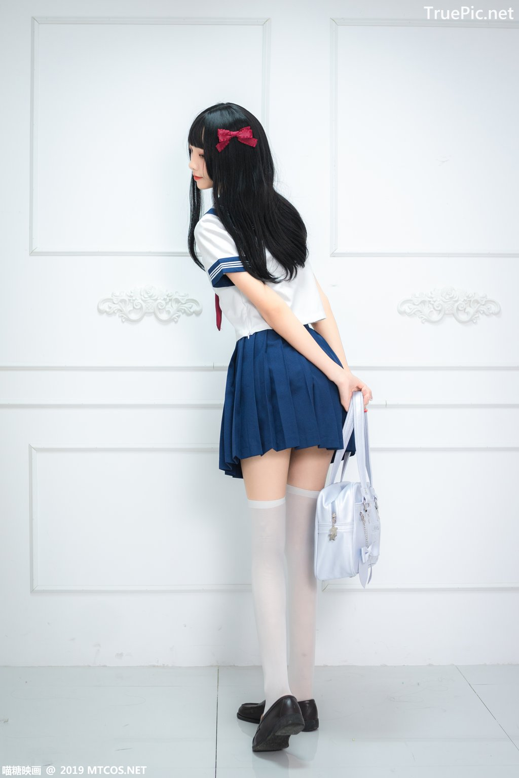 Image-MTCos-喵糖映画-Vol-012–Chinese-Pretty-Model-Cute-School-Girl-With-Sailor-Dress-TruePic.net- Picture-2