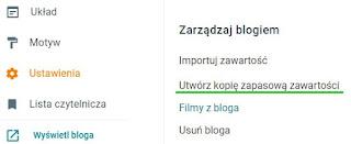 Tworzenie kopii zapasowej treści Blogger.