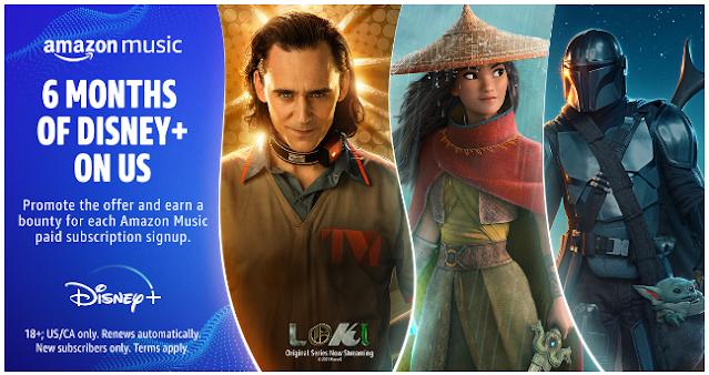 Amazon Promo Free 6 months of Disney Plus