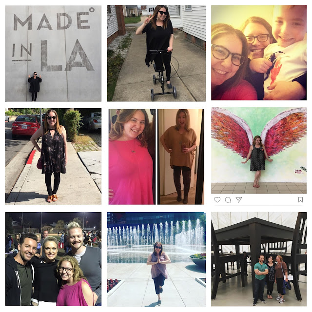 #2016bestnine, #tbt, Throwback Thursday, Jamie Allison Sanders, Los Angeles, The Broad, Under The Table by Robert Therrien, Made in LA street art, broken ankle, Romy and Michele's High School Reunion, Elaine Hendrix, weightloss, Colette Miller, The Global Angel Wings Project, friends, family