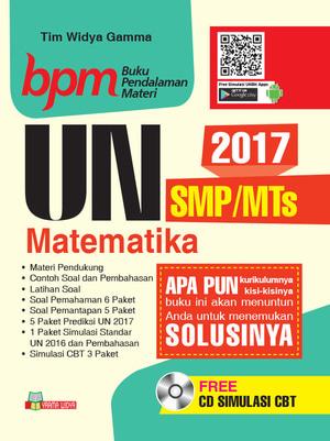 Ujian Nasional Un Smp Mts Matematika Cd Cbt 2017 Bpm Pembahasan Soal