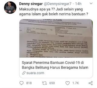BAZNAS beri bantuan covid-19 harus beragama islam