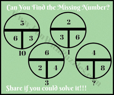 Quick math circle puzzle question