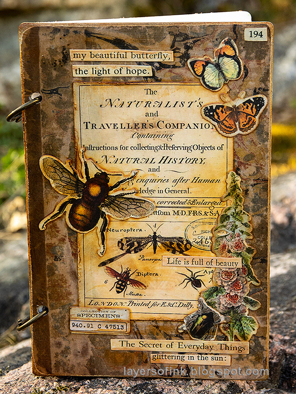 Layers of ink - Vintage Notebook Tutorial by Anna-Karin Evaldsson.