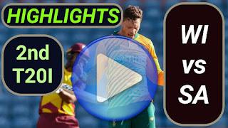 WI vs SA 2nd T20I 2021