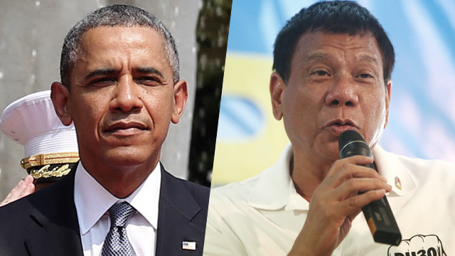 Duterte slams Obama:  I do not have any master except the Filipino people, you must be respectful