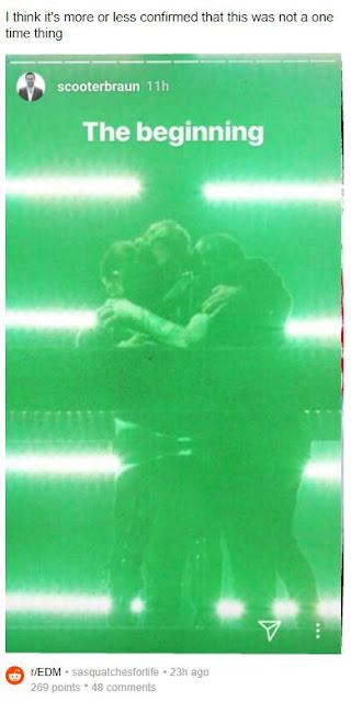 瑞典浩室黑手黨3人擁抱的IG限時動態搭配只是開端的描述