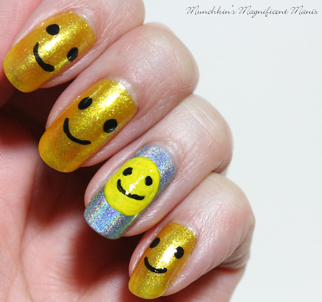 Happy Face Nail Design