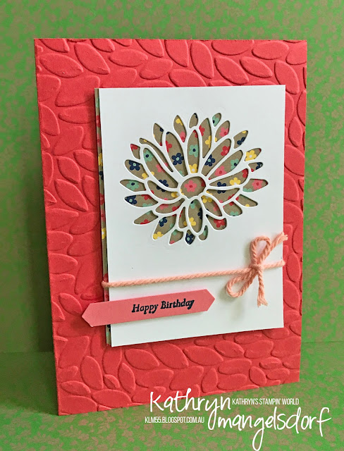 Stampin' Up! Stylish Stems Framelits Dies, Petal Burst Textured Impressions Embossing Folder created by Kathryn Mangelsdorf