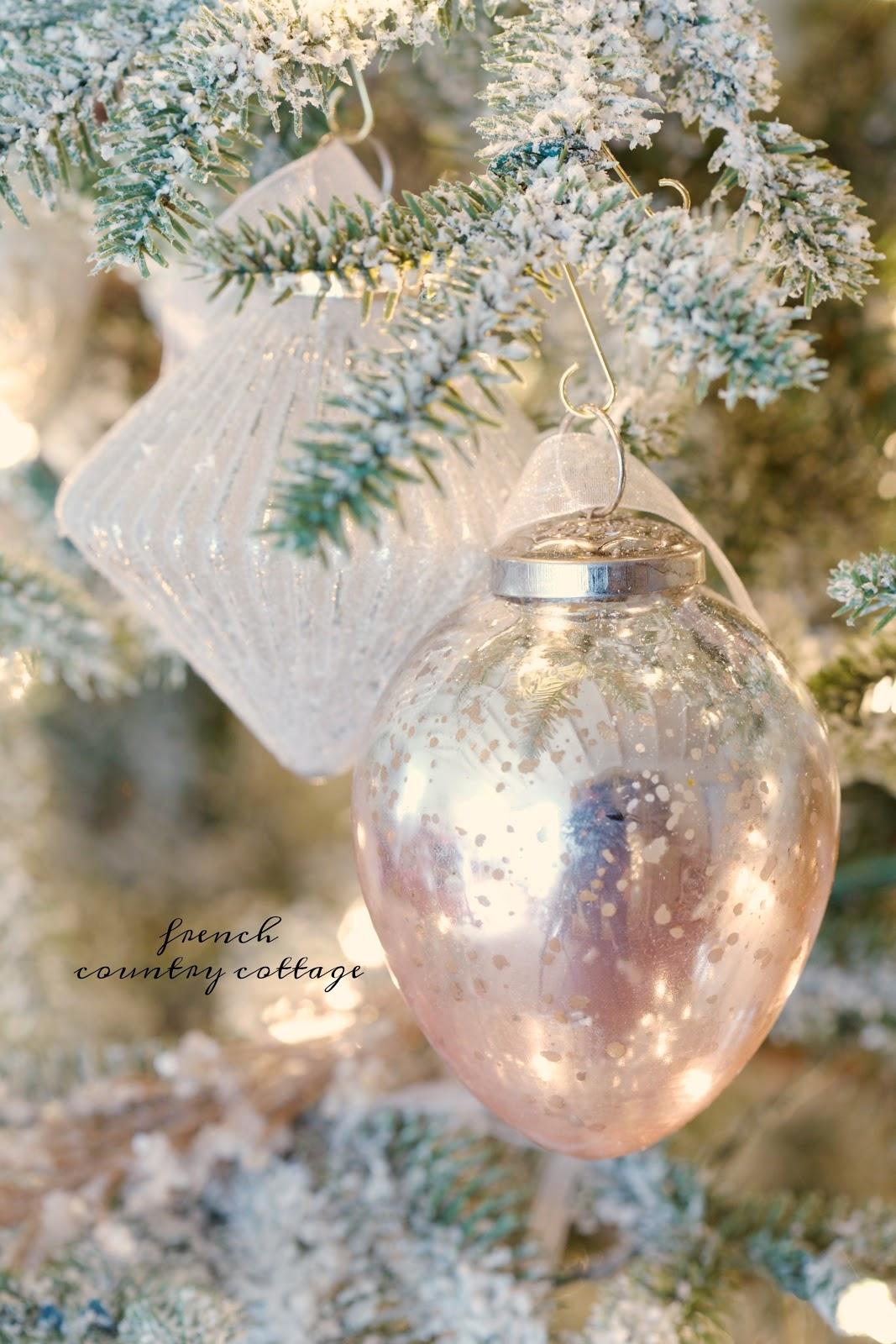 French country blush mercury glass christmas ornaments french and blush mercury glass solutioingenieria Choice Image