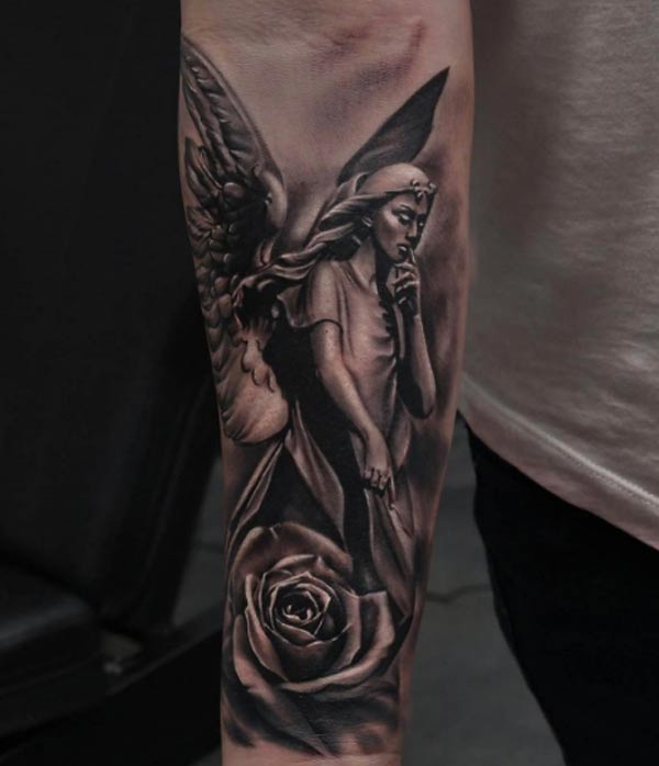 Angel tattoo designs idea
