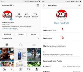 Mengganti user name Instagram